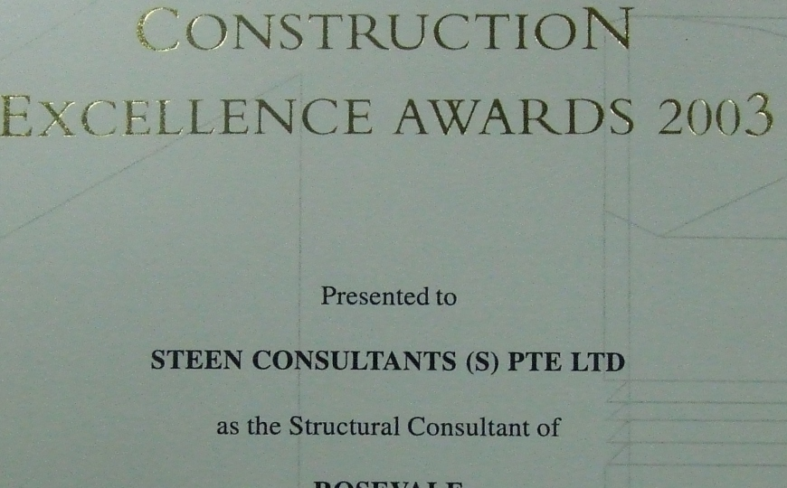 Construction Excellence Award 2003 - Rosevale