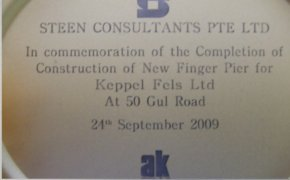 Commemoration of the Construction of New Finger Pier for Keppel Fels Ltd