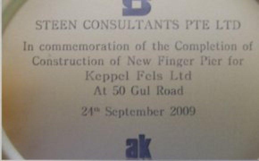 Commemoration of the Construction of New Finger Pier for Keppel Fels Ltd